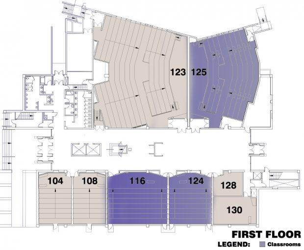 ECS Building map